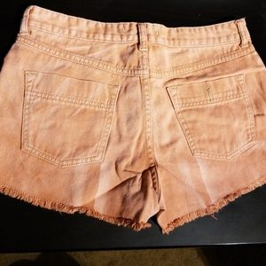 Free people coral shorts washed look